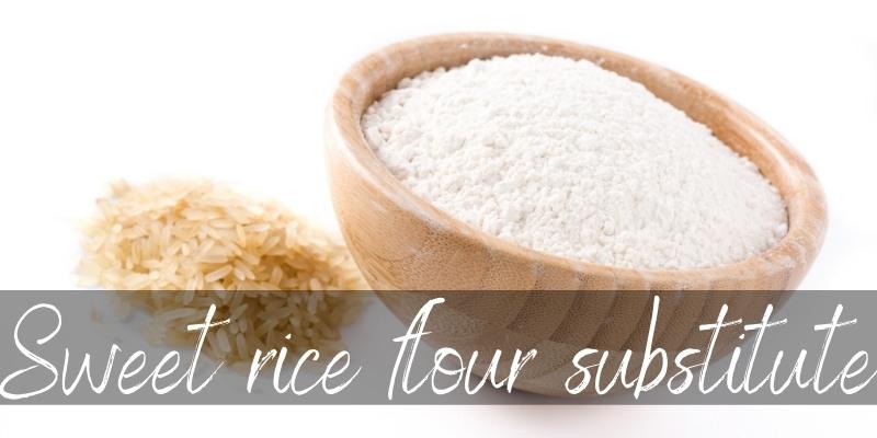 Best Sweet Rice Flour Substitutes (Gluten Free) - Foodiosity