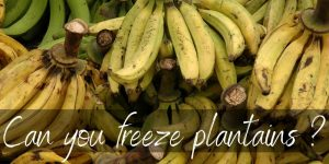 Read more about the article Can You Freeze Plantains ? Yes, And Here's How !
