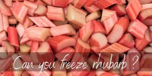 Read more about the article Can Rhubarb Be Frozen ? Yes, And Here's How !